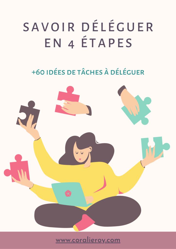 ebook déléguer en 4 étapes +60 idées de tâches